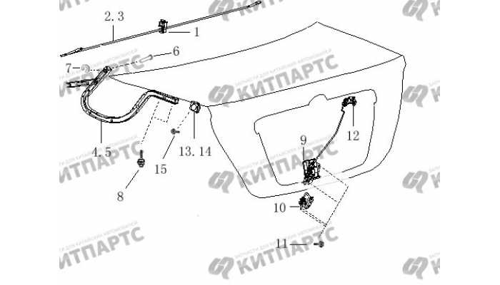 Крышка багажника BYD F3 (F3R)