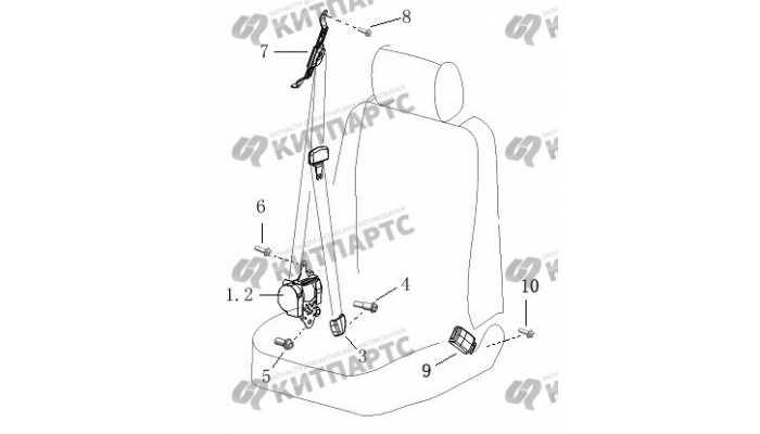 Ремень безопасности передний BYD F3 (F3R)