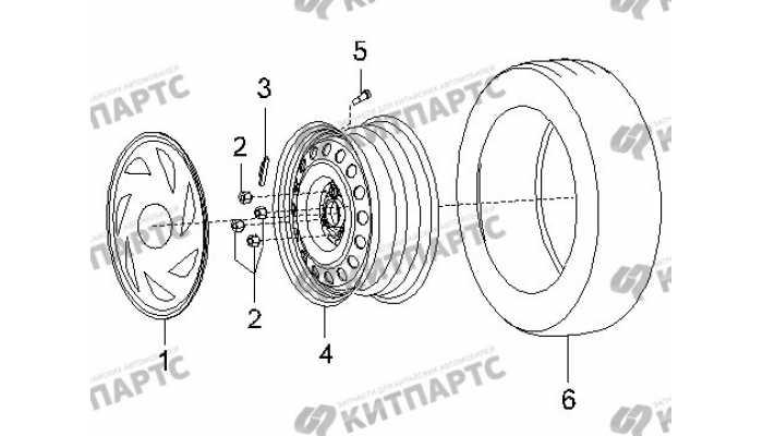 Колесо, штампованный диск BYD F3 (F3R)