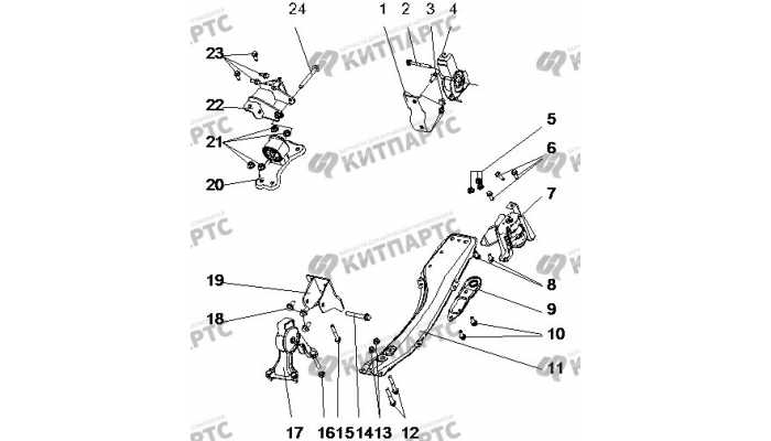 Кронштейны двигателя BYD F3 (F3R)