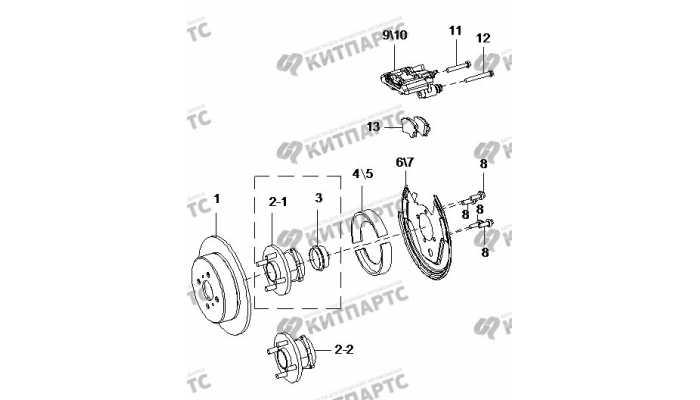 Тормоз задний BYD F3 (F3R)
