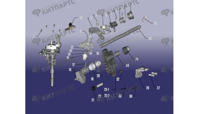 Механизм переключения передач Chery Fora (A21)