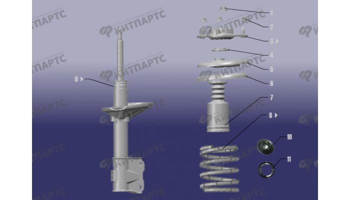 Стойка переднего амортизатора Chery Fora (A21)