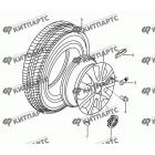 Диск колеса литой