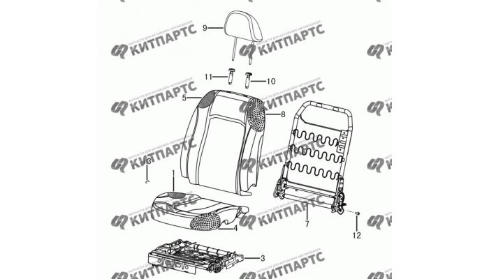 Сиденье пассажира - механизмы Dong Feng S30