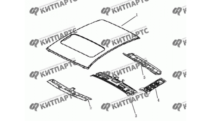 Панель крыши с люком Dong Feng S30