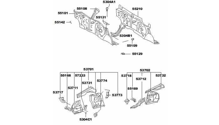 Панели арки колеса и моторного отсека FAW V5