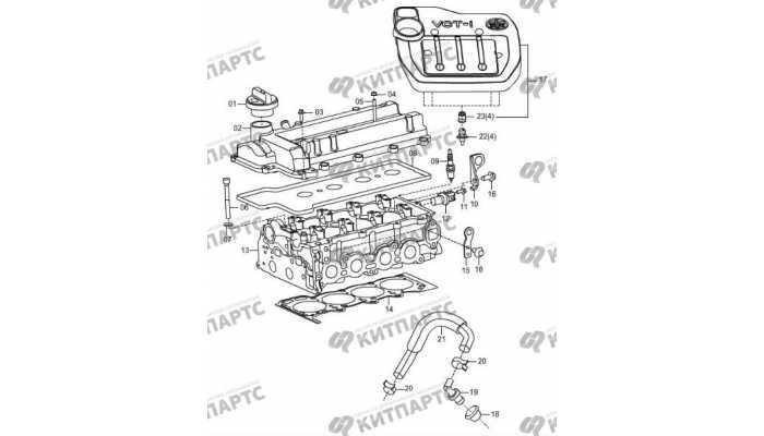 Крышки клапанная и двигателя FAW Oley