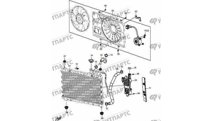 Радиатор охлаждения двигателя FAW Oley