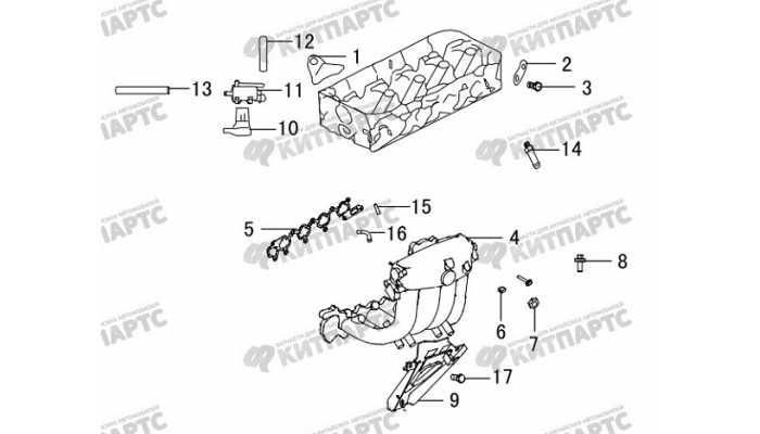 Впускной коллектор Great Wall Hover H5