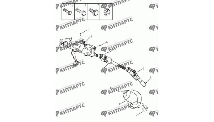 Колонка рулевая Geely Emgrand (EC7)