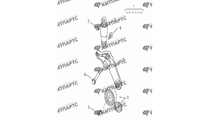 Натяжитель приводного ремня (1,8 L) Geely Emgrand (EC7)