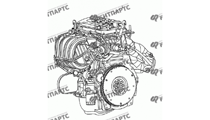 Двигатель в сборе 4G15N (1,5 L) Geely Emgrand (EC7)