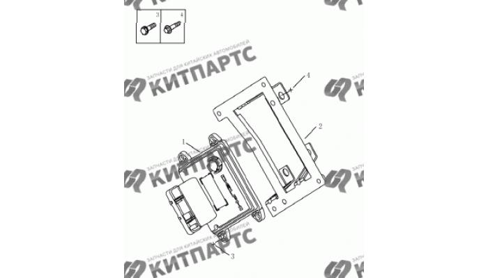Блок управления двигателем (DELPHI) Geely Emgrand (EC7)