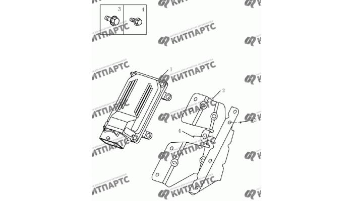 Блок управления двигателем (UAES) Geely Emgrand (EC7)