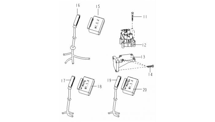 Катушка зажигания и блок управления двигателем Geely MK