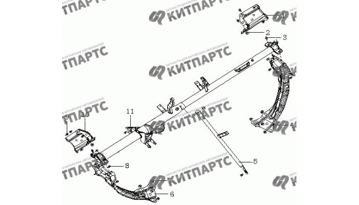 Кронштейн панели приборов МК08 Geely MK