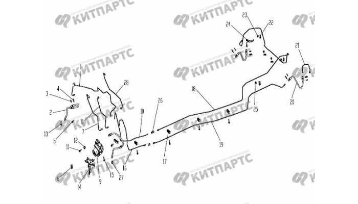 Трубки тормозные (с ABS) Geely Otaka (CK)