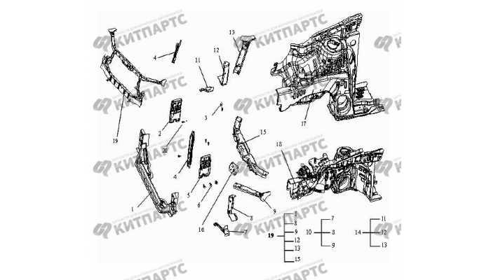 Панели моторного отсека Geely Otaka (CK)