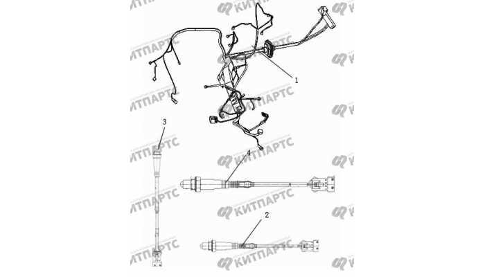 Жгут проводов двигателя Geely Vision (FC)
