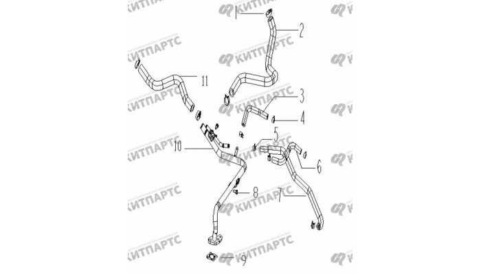 Шланги отопителя Geely Vision (FC)