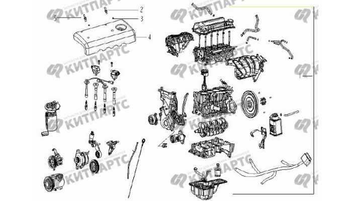 Двигатель в сборе (JL4G15) Geely Vision (FC)