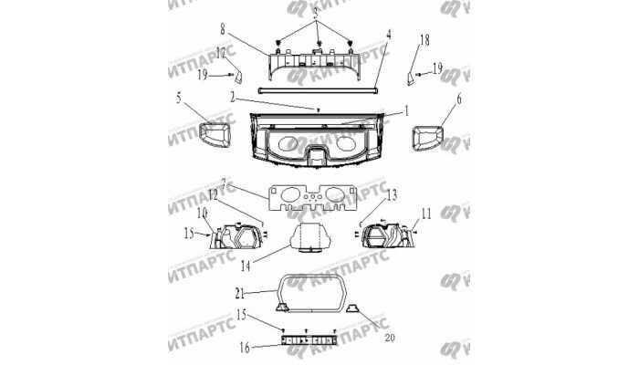 Обивка крышки багажника Geely Vision (FC)